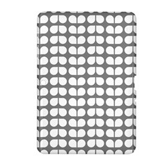 Gray And White Leaf Pattern Samsung Galaxy Tab 2 (10 1 ) P5100 Hardshell Case