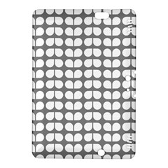 Gray And White Leaf Pattern Kindle Fire Hdx 8 9  Hardshell Case