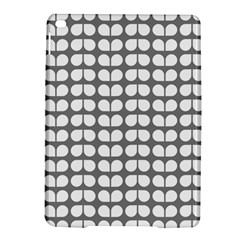 Gray And White Leaf Pattern iPad Air 2 Hardshell Cases