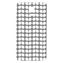 Gray And White Leaf Pattern Galaxy Note 4 Back Case
