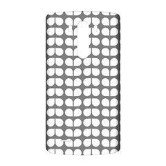 Gray And White Leaf Pattern LG G3 Back Case