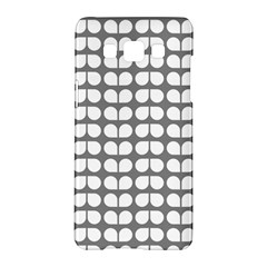 Gray And White Leaf Pattern Samsung Galaxy A5 Hardshell Case