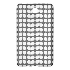 Gray And White Leaf Pattern Samsung Galaxy Tab 4 (7 ) Hardshell Case