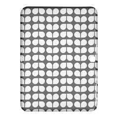 Gray And White Leaf Pattern Samsung Galaxy Tab 4 (10.1 ) Hardshell Case