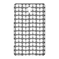 Gray And White Leaf Pattern Samsung Galaxy Tab S (8.4 ) Hardshell Case