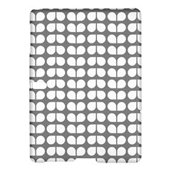 Gray And White Leaf Pattern Samsung Galaxy Tab S (10.5 ) Hardshell Case