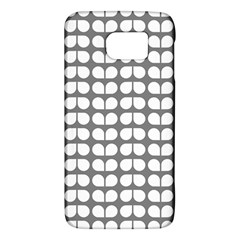 Gray And White Leaf Pattern Galaxy S6