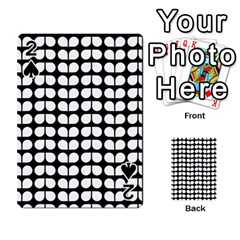 Black And White Leaf Pattern Playing Cards 54 Designs