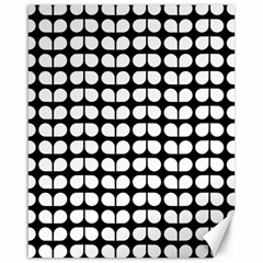 Black And White Leaf Pattern Canvas 16  X 20