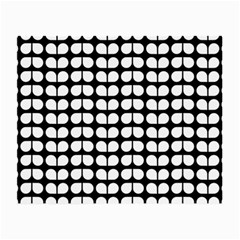 Black And White Leaf Pattern Small Glasses Cloth (2 Side)