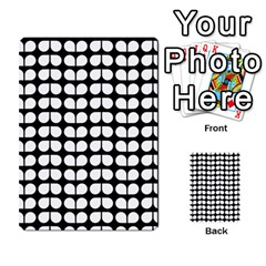 Black And White Leaf Pattern Multi Purpose Cards (rectangle)
