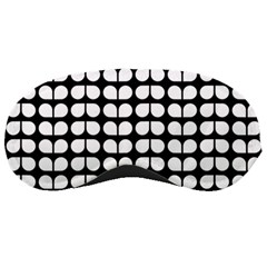 Black And White Leaf Pattern Sleeping Masks