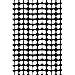Black And White Leaf Pattern 5.5  x 8.5  Notebooks