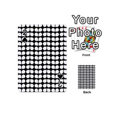 Black And White Leaf Pattern Playing Cards 54 (mini)