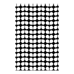 Black And White Leaf Pattern Shower Curtain 48  x 72  (Small)