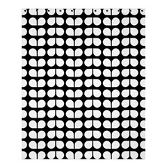 Black And White Leaf Pattern Shower Curtain 60  x 72  (Medium)