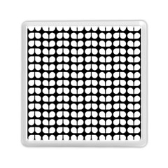 Black And White Leaf Pattern Memory Card Reader (Square)