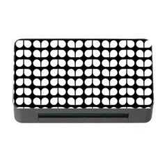 Black And White Leaf Pattern Memory Card Reader with CF