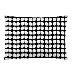 Black And White Leaf Pattern Pillow Cases (Two Sides)