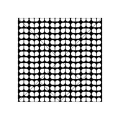 Black And White Leaf Pattern Acrylic Tangram Puzzle (4  x 4 )