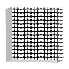 Black And White Leaf Pattern 5  x 5  Acrylic Photo Blocks