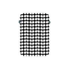 Black And White Leaf Pattern Apple Ipad Mini Protective Soft Cases