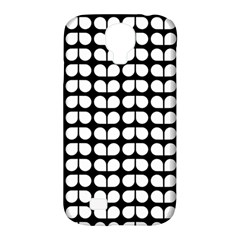 Black And White Leaf Pattern Samsung Galaxy S4 Classic Hardshell Case (pc+silicone)