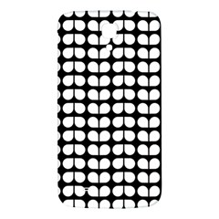Black And White Leaf Pattern Samsung Galaxy Mega I9200 Hardshell Back Case