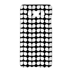 Black And White Leaf Pattern Samsung Galaxy A5 Hardshell Case