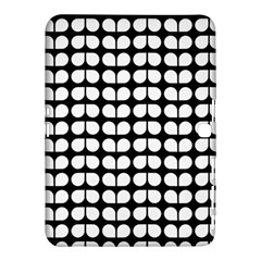 Black And White Leaf Pattern Samsung Galaxy Tab 4 (10.1 ) Hardshell Case