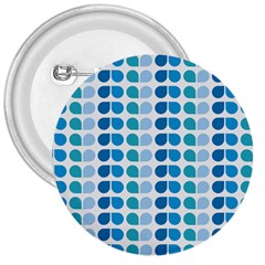 Blue Green Leaf Pattern 3  Buttons