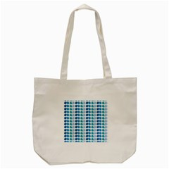 Blue Green Leaf Pattern Tote Bag (Cream)