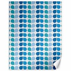 Blue Green Leaf Pattern Canvas 18  X 24