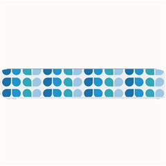 Blue Green Leaf Pattern Small Bar Mats