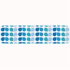 Blue Green Leaf Pattern Large Bar Mats