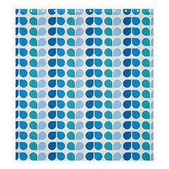 Blue Green Leaf Pattern Shower Curtain 66  x 72  (Large)