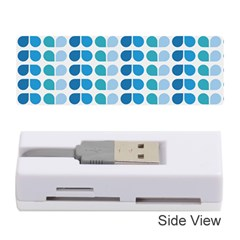 Blue Green Leaf Pattern Memory Card Reader (Stick)