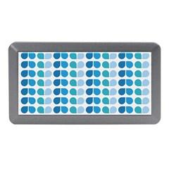 Blue Green Leaf Pattern Memory Card Reader (Mini)