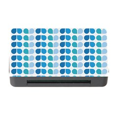 Blue Green Leaf Pattern Memory Card Reader With Cf