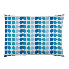 Blue Green Leaf Pattern Pillow Cases (Two Sides)