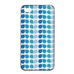 Blue Green Leaf Pattern Apple iPhone 4/4s Seamless Case (Black)