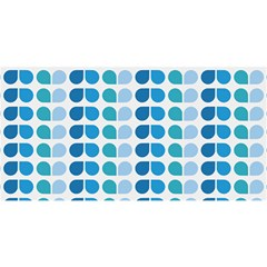 Blue Green Leaf Pattern YOU ARE INVITED 3D Greeting Card (8x4)