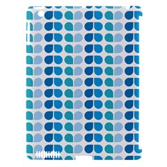 Blue Green Leaf Pattern Apple Ipad 3/4 Hardshell Case (compatible With Smart Cover)