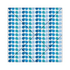Blue Green Leaf Pattern Acrylic Tangram Puzzle (6  x 6 )