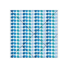 Blue Green Leaf Pattern Acrylic Tangram Puzzle (4  x 4 )