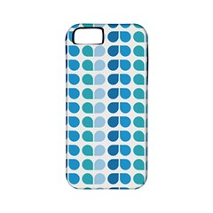 Blue Green Leaf Pattern Apple Iphone 5 Classic Hardshell Case (pc+silicone)