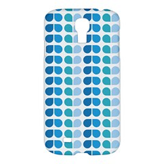 Blue Green Leaf Pattern Samsung Galaxy S4 I9500/i9505 Hardshell Case