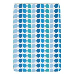 Blue Green Leaf Pattern Flap Covers (s)