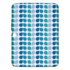 Blue Green Leaf Pattern Samsung Galaxy Tab 3 (10 1 ) P5200 Hardshell Case