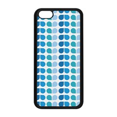 Blue Green Leaf Pattern Apple Iphone 5c Seamless Case (black)